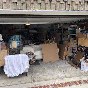 organize your garage before photo