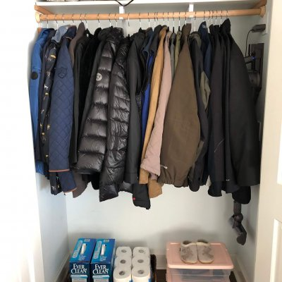 closet organizing recent project