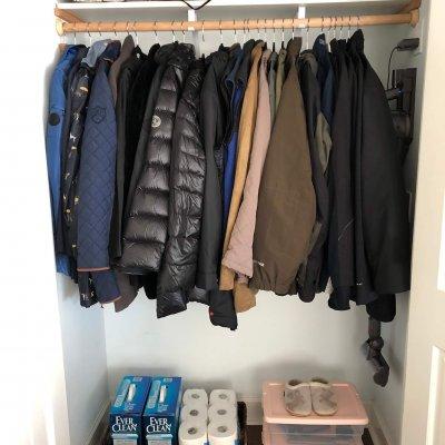 closet organizing recent project