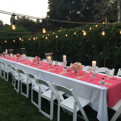 evening outdoor reception event recent project